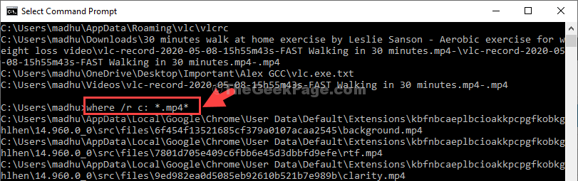 Run Command To Pull Up Files In Mp4 Format Enter