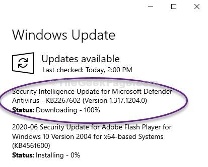 Security Update Feature