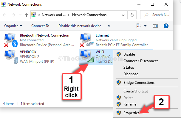 Select The Active Connection Right Click Properties