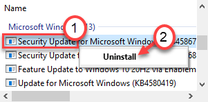 Uninstall Update Min