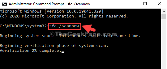 Command Prompt Admin Mode Sfac Scannow Enter