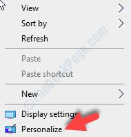 Desktop Empty Area Right Click Personalize