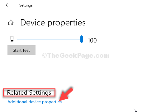 Device Properties Related Settings Additional Device Properties