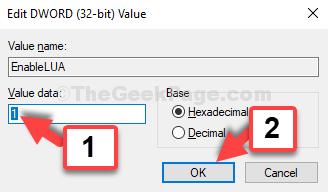 Edit Dword (32 Bit) Value Value Data Set To 1 Ok