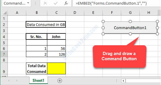 Empty Area Drag And Draw A Command Button