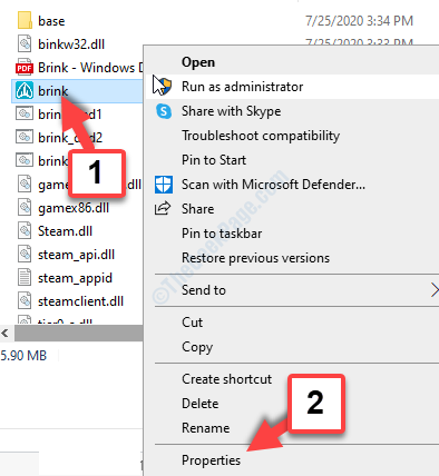 File Explorer Location Find Game Right Click Properties
