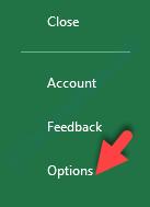 File Tab Options