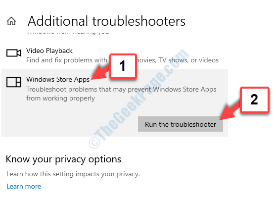 Find And Fix Other Problems Windows Store Apps Run The Troubleshooter