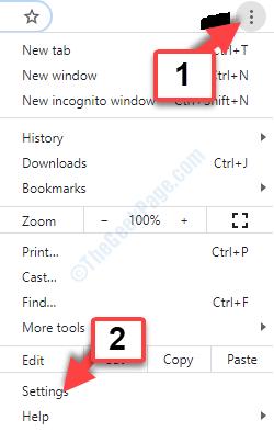 Google Chrome Three Vertical Dots Settings