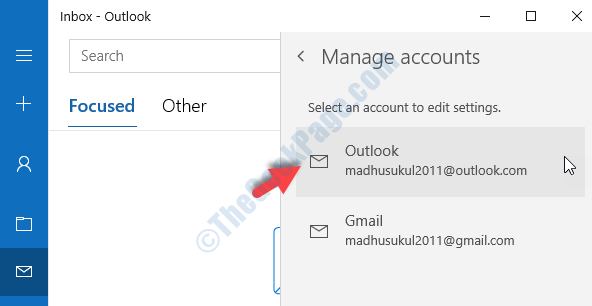 Manage Accounts Select Account You Wish To Delete