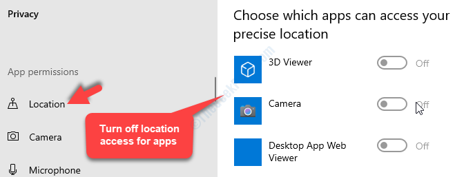 Privacy Location Choose Which Apps Can Access Your Precise Location Turn Off
