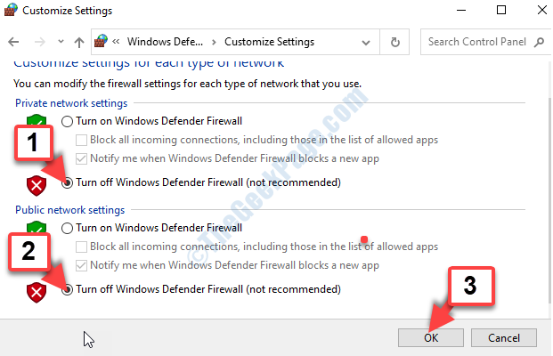 Private Network Settings Turn Off Windows Defender Firewall Public Network Settings Turn Off Windows Defender Firewall