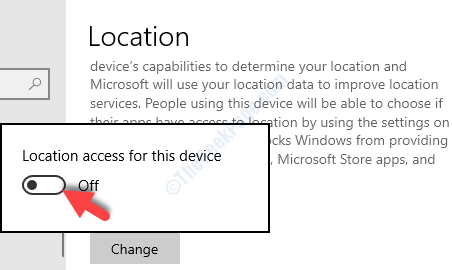 Prompt Location Access For Tis Device Turn Off