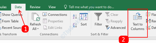 Data Tab - MS Excel