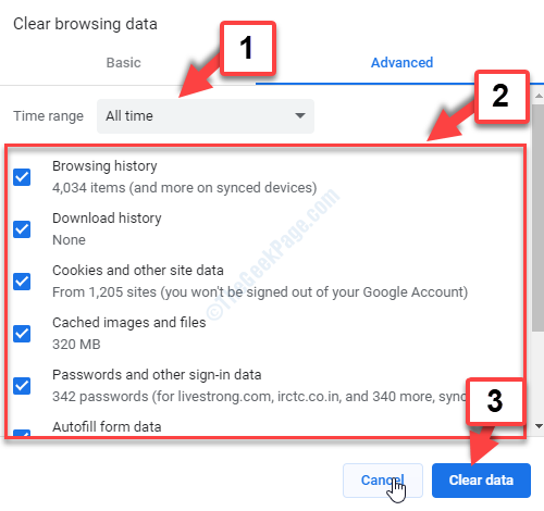 Settings Clear Browsing Data Set Time Range Check All Boxes Clear Data