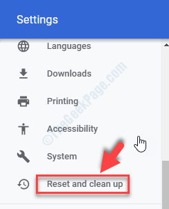 Settings Reset And Clean Up