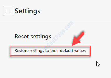 Settings Reset Settings Restore Settings To Their Default Values