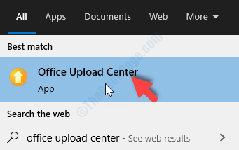 Start Search Office Upload Center Result Left Click