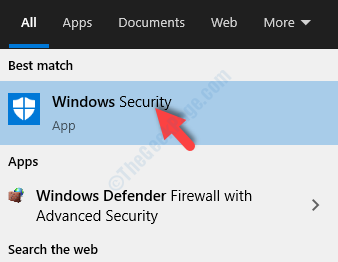 Start Type Windows Defender Windows Security