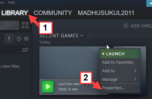 Steam App Library Right Click On Game Properties