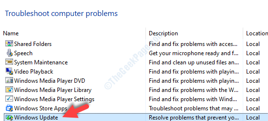 Troubleshoot Computer Problems Windows Update
