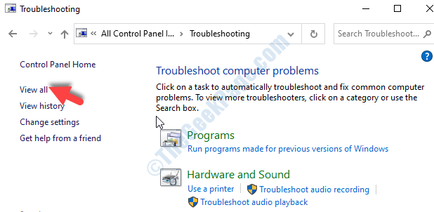 Troubleshooting View All