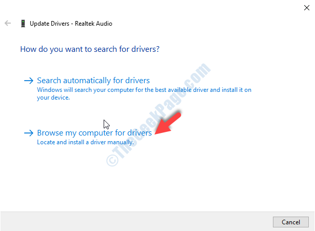 Update Drivers Window Browse My Computer For Drivers