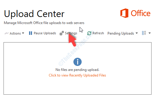 Upload Center Settings