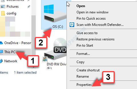 Win + E File Explorer This Pc C Drive Right Click Properties