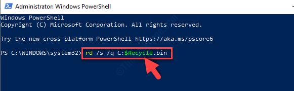 Windows Powershell In Admin Mode Run Command Enter