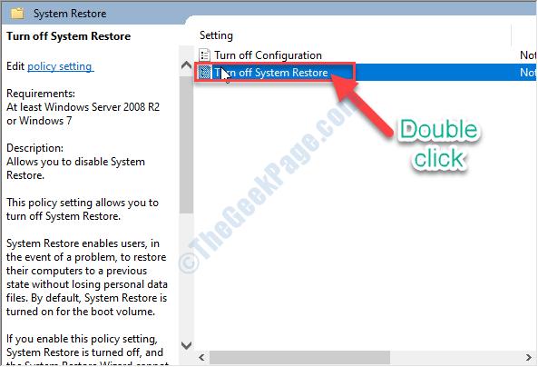 Dc Turn Off System Restore