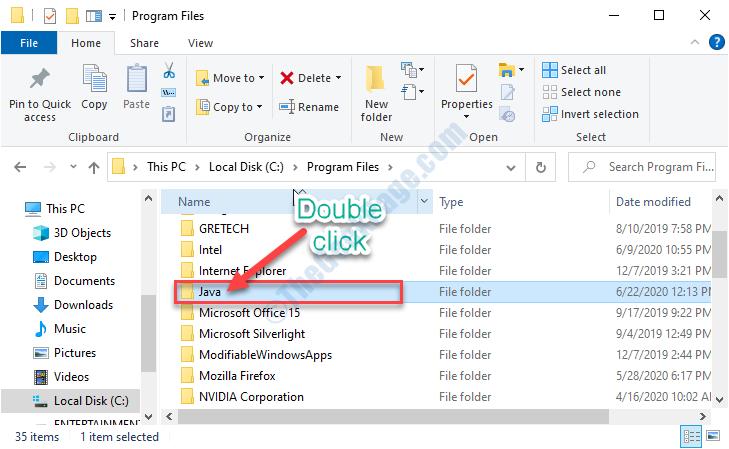 Java Double Click