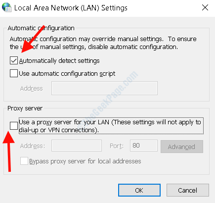 Lan Settings Auto Detect