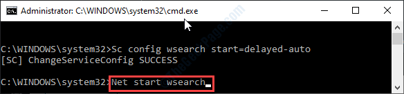 Net Start Wsearch