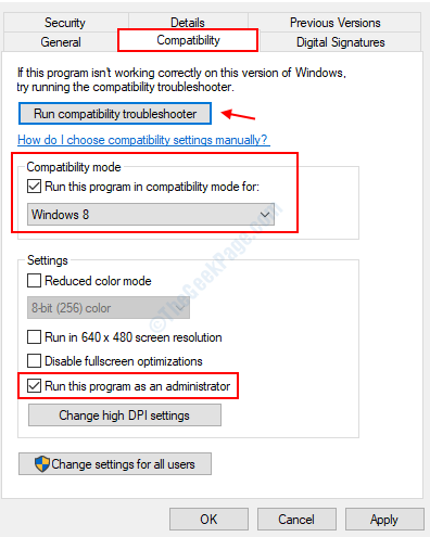 Run Compatibility Troubleshooter