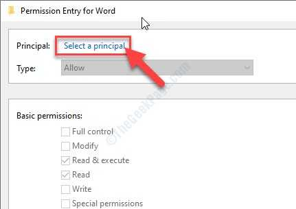 Select A Principal Copy