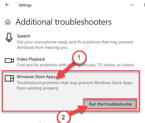 Store Apps Run The Troublshooter