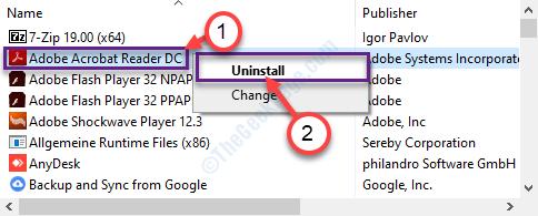 Uninstall Adobe Reader