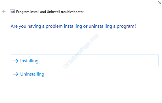 Windows Installer Troubleshooter