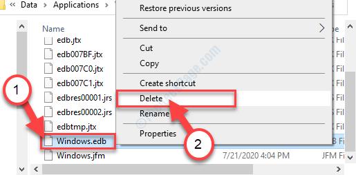Windowsedb Delete