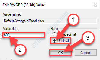 Xresolution Set Value
