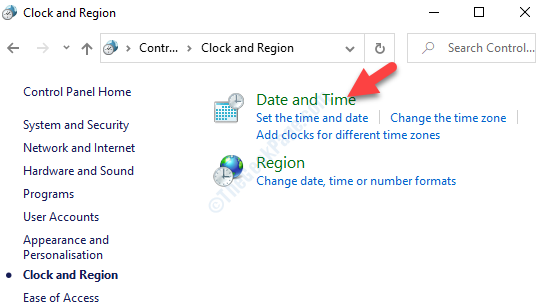 Clock And Region Right Side Date And Time