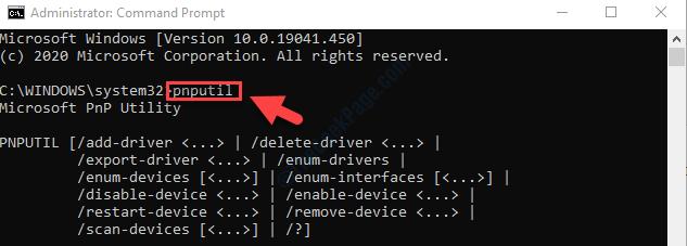 Command Prompt Admin Mode Run Command Pnputil Enter