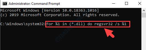 Command Prompt Admin Mode Run Command To Re Register Enter