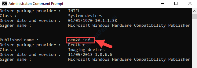 Command Prompt Admin Check For Installed Driver Oem Number