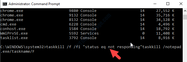 Command Prompt Admin Execute Command To Force Kill Task Enter