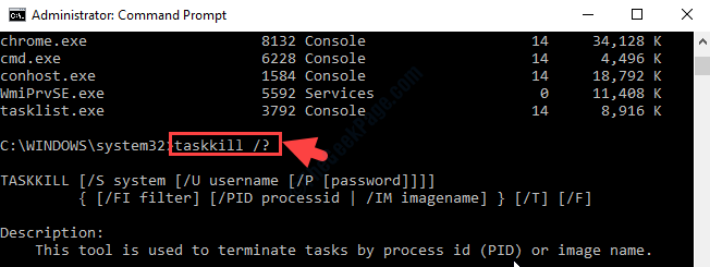 Command Prompt Admin Execute Command To Know Which Task To Be Killed Enter