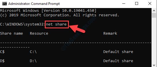 Command Prompt Admin Mode Run Command Net Share