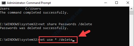 Command Prompt Admin Mode Run Command To Delete All Shared Folders