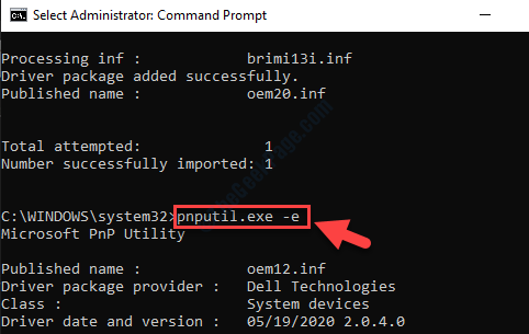 Command Prompt Admin Run Command To Pull Up Installed Drivers List Enter